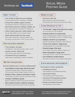 Archives on Facebook: Social Media Posting Guide